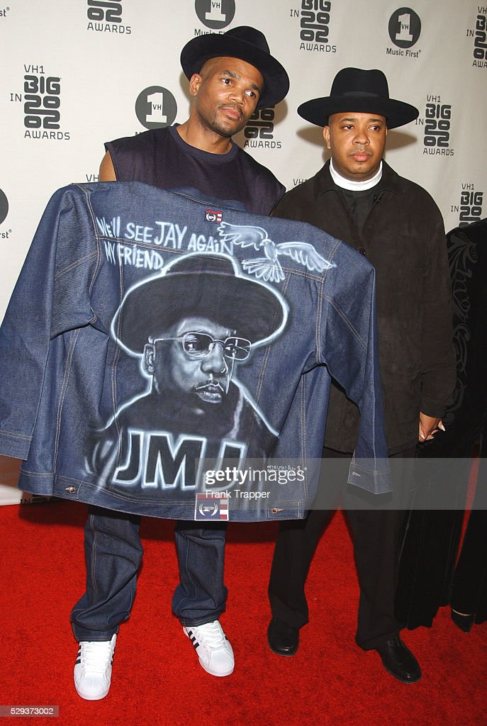 American rap group RUN DMC arrive at 'VH1's Big in 2002' awards