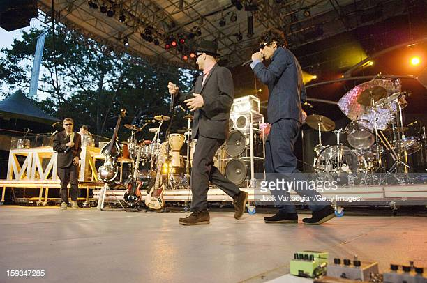 American rap group the Beastie Boys performs at a Benefit for Central Park's SummerStage New York New York August 8 2007 From left Adam Yauch Adam...