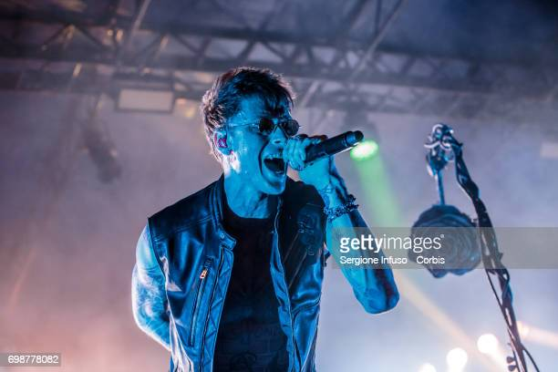 American rapper and actor Machine Gun Kelly performs on stage on June 20 2017 in Milan Italy