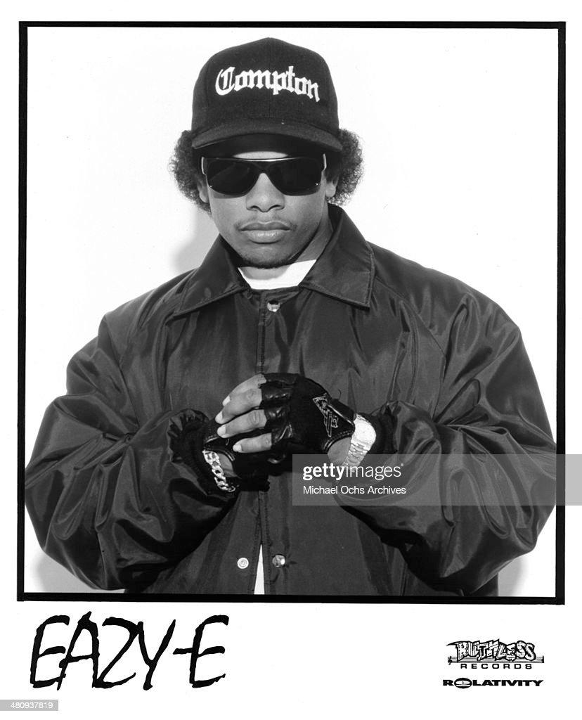 American rapper Eazy-E poses.