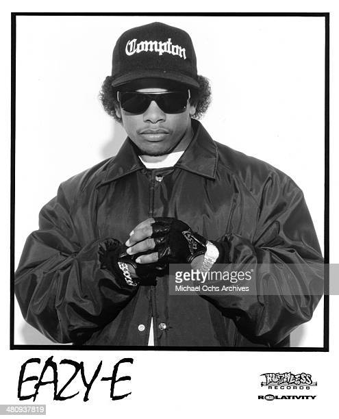 American rapper EazyE poses