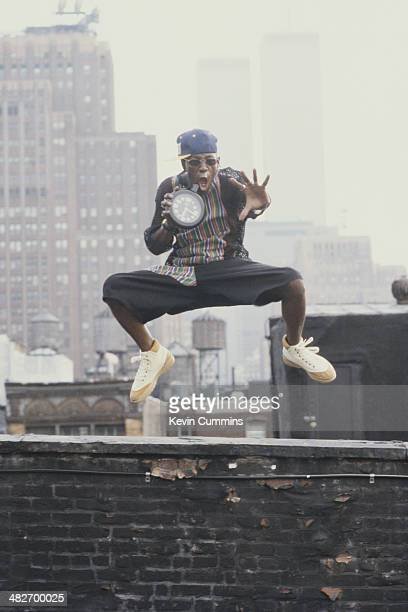 American rapper Flavor Flav of hip hop group Public Enemy circa 1988