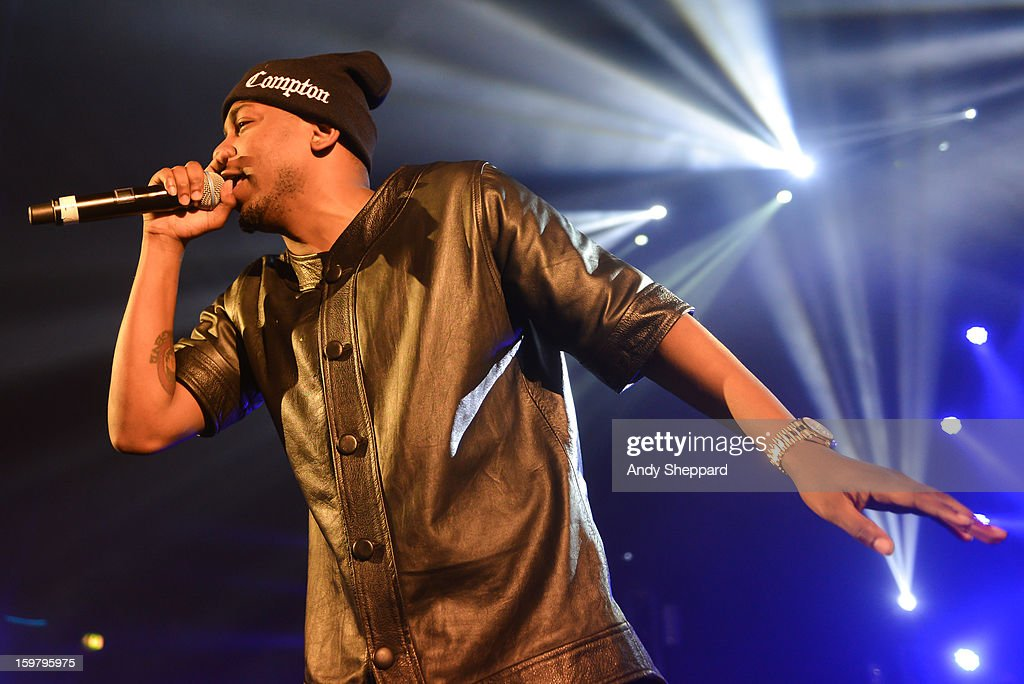 American Rapper Kendrick Lamar performs on stage at Hammersmith Apollo on January 20, 2013 in London, United Kingdom.