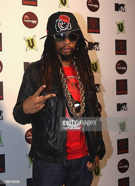 American rapper Lil Jon arrives at MTV Snow Jam 2011 on July 14 2011 in Melbourne Australia
