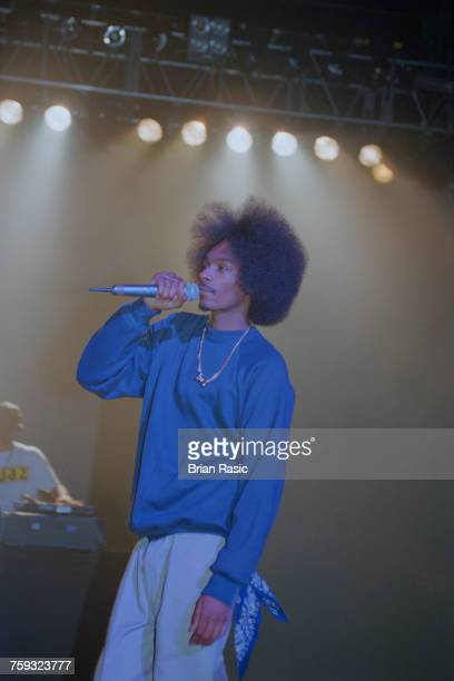 American rapper Snoop Dogg performs live on stage with Dr Dre at Brixton Academy in London on 15th June 1994