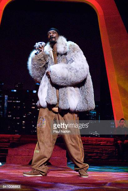 American rapper Snoop Dogg performs onstage at the Aire Crown Theater Chicago Illinois December 31 2006