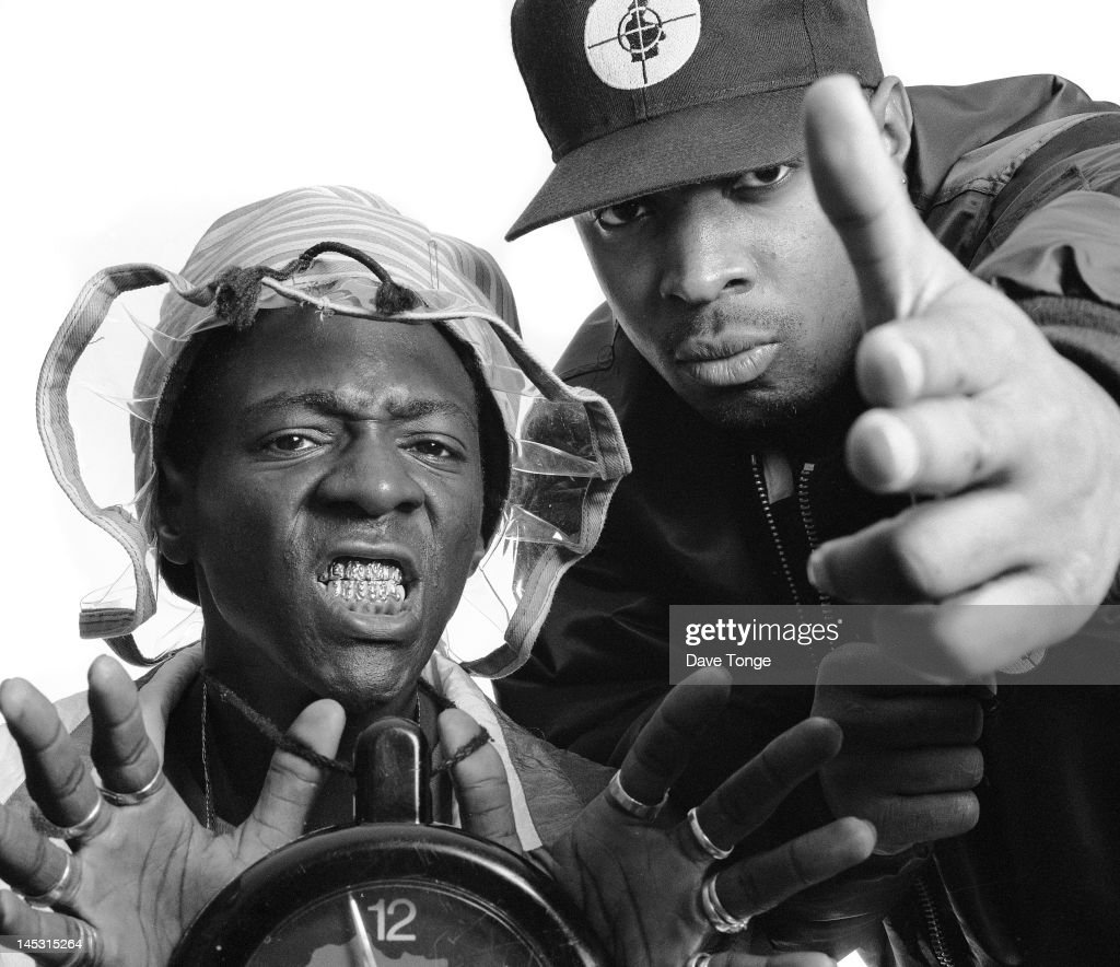 American rappers Flava Flav (left) and <a gi-track='captionPersonalityLinkClicked' href=/galleries/search?phrase=Chuck+D&family=editorial&specificpeople=212935 ng-click='$event.stopPropagation()'>Chuck D</a> of Public Enemy, London, UK, June 1997.
