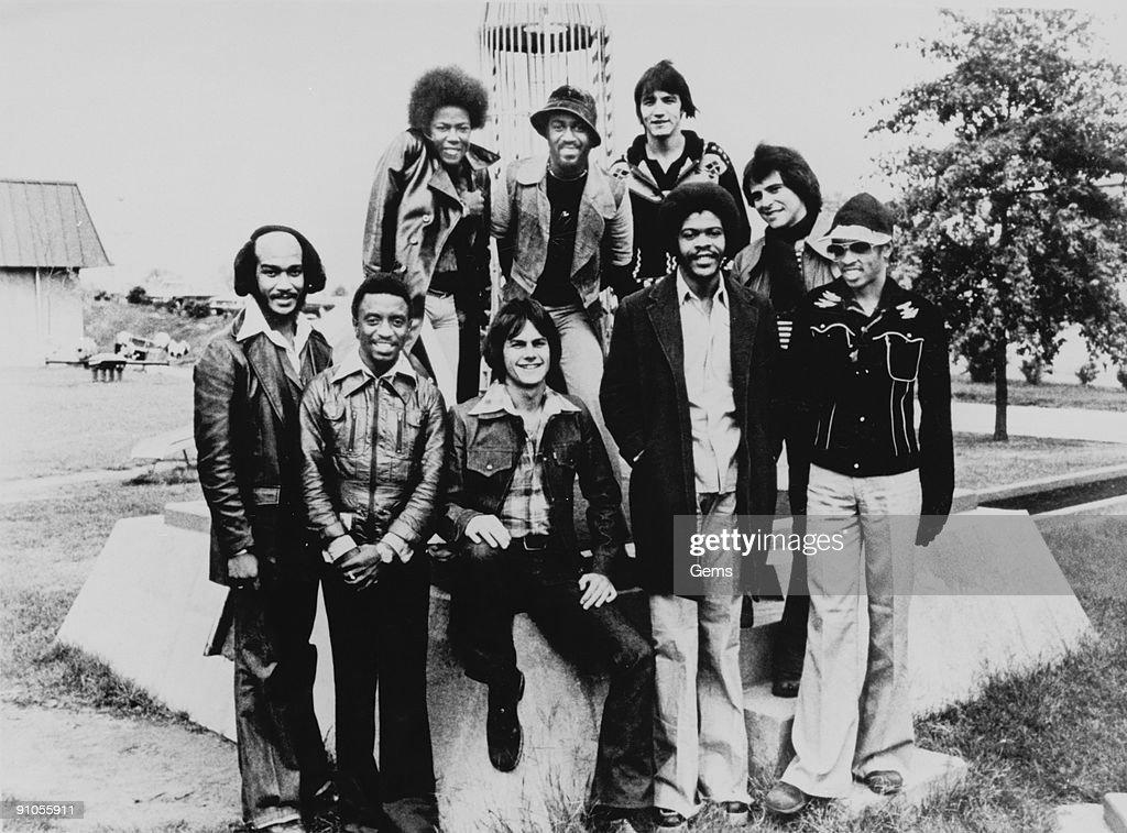 American R&B and disco group KC and the Sunshine Band, 1976.