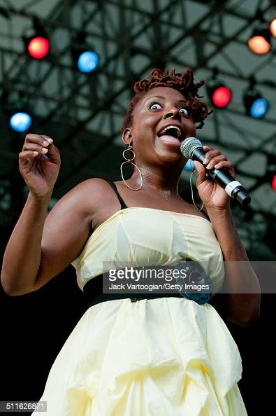 American RB musician Ledisi performs at Central Park SummerStage New York New York June 28 2009
