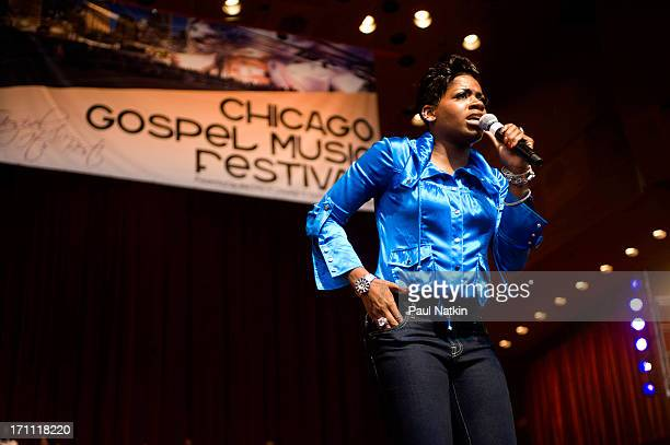 American RB singer Fantasia Barrino performs during the 25th Annual Chicago Gospel Music Festival at the Pritzker Pavillion Chicago Illinois June 7...