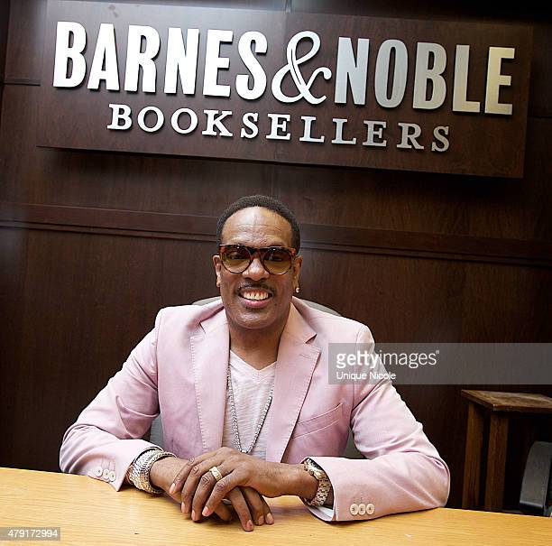 American RB singer/songwriter Charlie Wilson attends a book signing for 'I Am Charlie Wilson' at Barnes Noble bookstore at The Grove on June 30 2015...