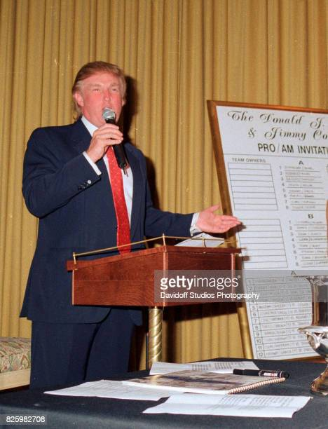 American real estate developer Donald Trump during an event at the MaraLago Club Palm Beach Florida February 20 1998 The event was related to the...