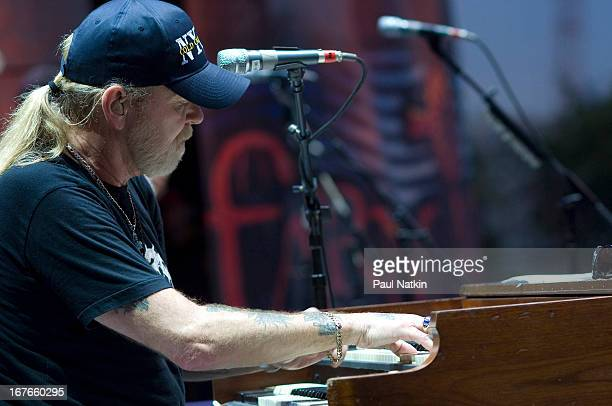 American rock and blues group The Allman Brothers Band perform on stage at the 22nd Annual Farm Aid concert Randall's Island New York New York...