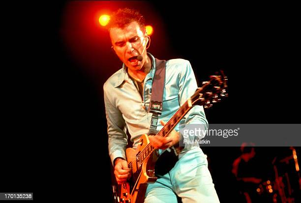 American rock and pop musician David Byrne performs onsstage Chicago Illinois August 21 1997