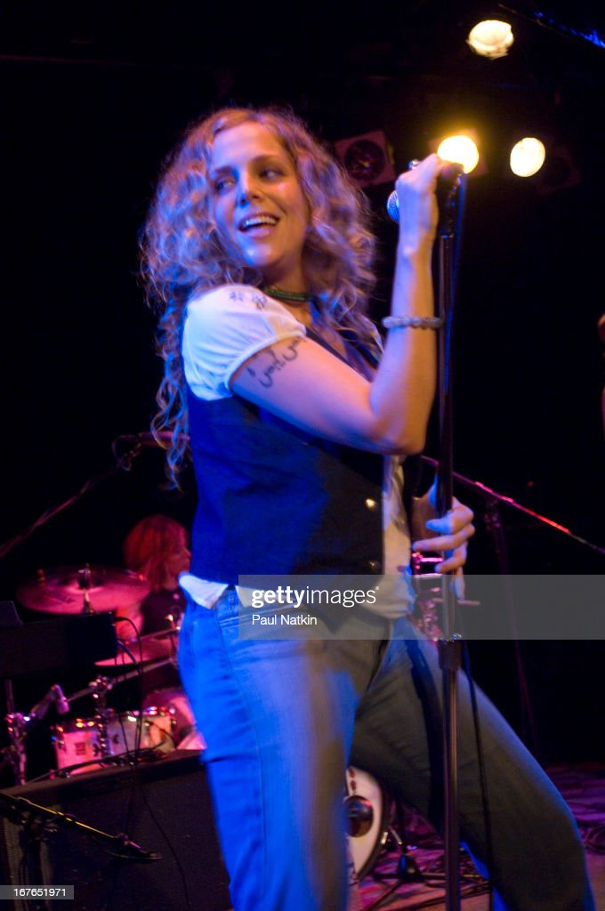 American rock band Antigone Rising perform on stage at Martyr's nightclub Chicago Illinois October 3 2006 Pictured is singer Cassidy