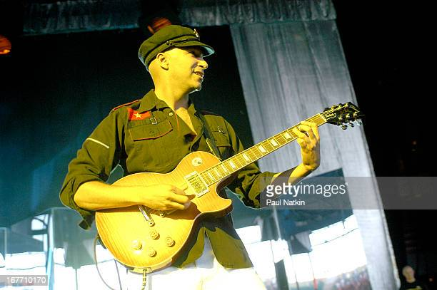 American rock band Audioslave performs on stage Milwaukee Wisconsin July 11 2003 Pictured is guitarist Tom Morello