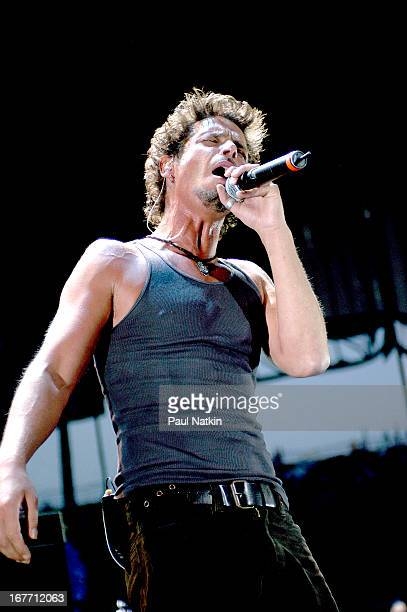 American rock band Audioslave performs on stage Milwaukee Wisconsin July 11 2003 Pictured is singer Chris Cornell