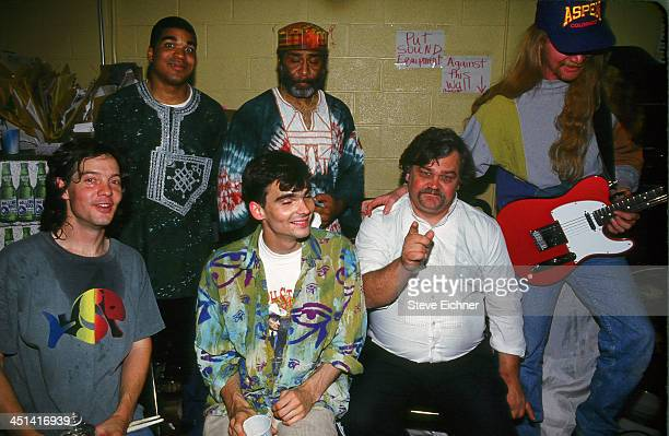 American rock band Col Bruce Hampton and The Aquarium Rescue Unit pose backstage at the Wetlands Preserve nightclub May 13 1993