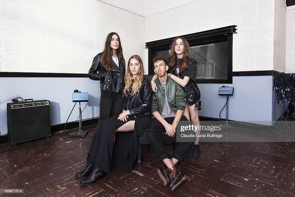 American rock band Haim is photographed for V Magazine on January 10, 2014 in Los Angeles, California.