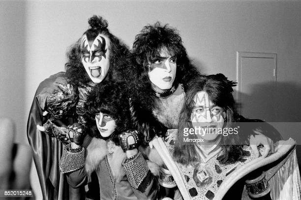 American rock band Kiss pictured at Heathrow Airport 4th September 1980