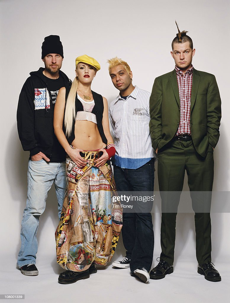 American rock band No Doubt circa 2001 They are Gwen Stefani Tony Kanal Adrian Young and Tom Dumont