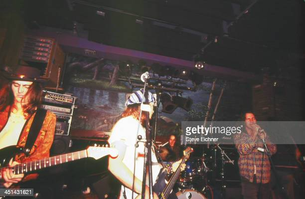 American rock band Pearl Jam performs on stage at the Wetlands Preserve nightclub July 17 1991