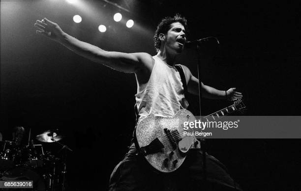 American rock band Soundgarden with lead singer Chris Cornell perform at Vredenburg Utrecht Netherlands 6th April 1994