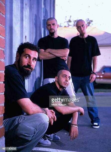 American rock band System of a Down in a posed portrait 2001