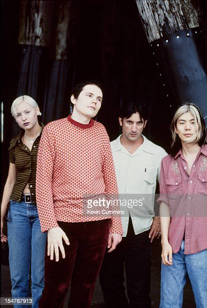 American rock band the Smashing Pumpkins Los Angeles August 1995 Left to right bassist D'Arcy Wretzky singer Billy Corgan drummer Jimmy Chamberlain...