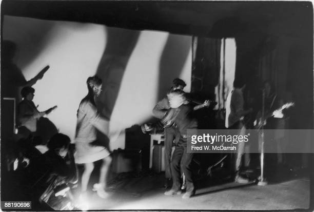 American rock band the Velvet Underground perform at the Filmmakers Cinematheque New York New York February 8 1966 Among those on stage are band...