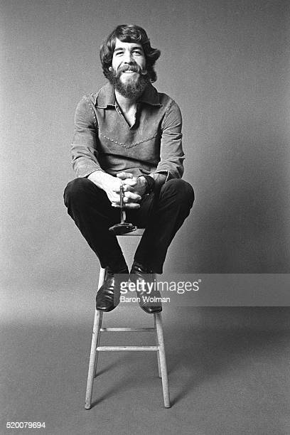 American rock drummer Doug Clifford of Creedence Clearwater Revival Belvedere Street Studio San Francisco 1970