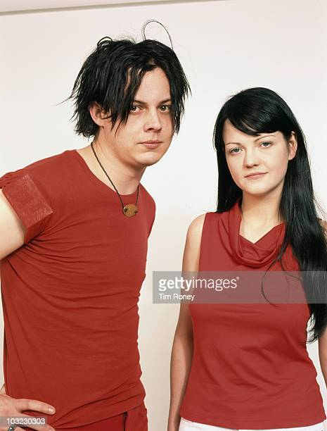 American rock duo the White Stripes February 2002 They are Jack White and his exwife Meg White