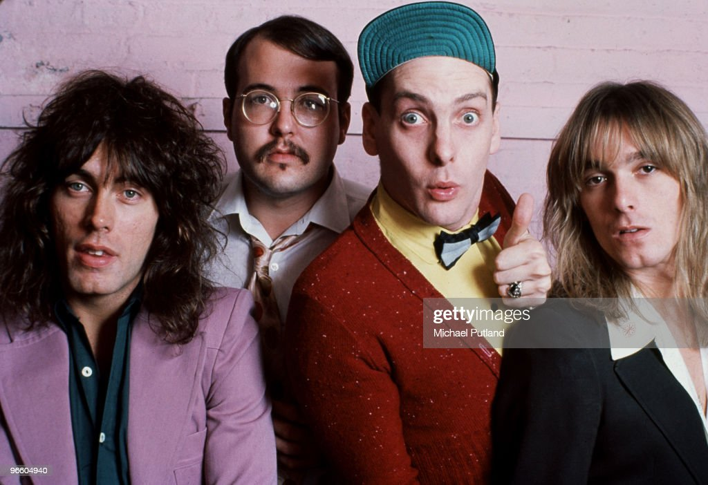 American rock group Cheap Trick USA 1977 Left to right bassist Tom Petersson drummer Bun E Carlos guitarist Rick Nielsen and singer Robin Zander