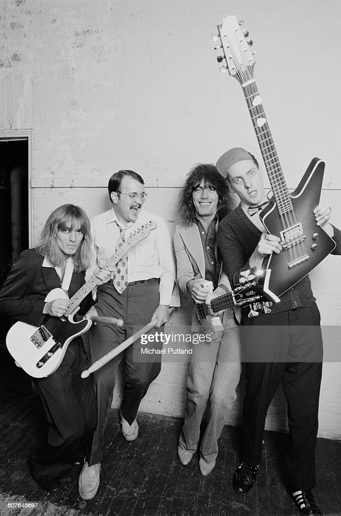 American rock group Cheap Trick USA 1977 Left to right singer Robin Zander drummer Bun E Carlos bassist Tom Petersson and guitarist Rick Nielsen