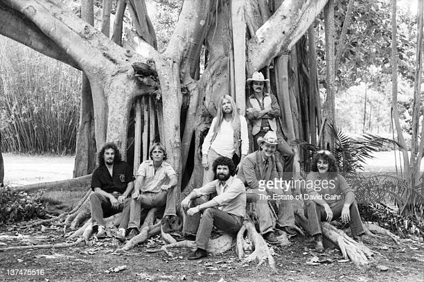 American rock group The Allman Brothers pose for a portrait in May 1982 in Sarasota Florida