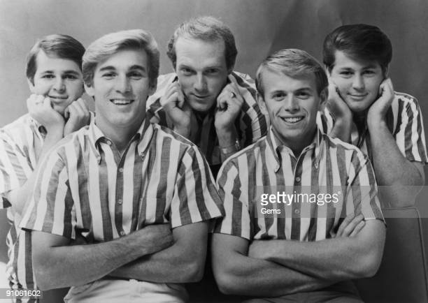 American rock group The Beach Boys 1964 From left to right Carl Wilson Dennis Wilson Mike Love Al Jardine and Brian Wilson From Capitol Records