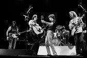 American rock group the Eagles with special guest Jackson Browne perform onstage at the Chicago Stadium Chicago Illinois October 22 1979 Pictured are...