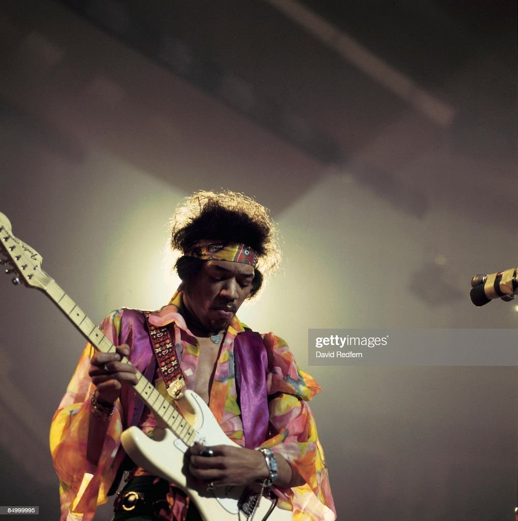 HALL Photo of Jimi HENDRIX, Performing live onstage.