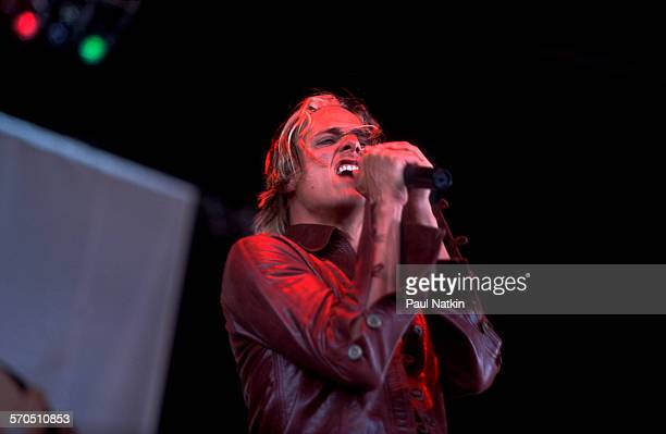 American Rock musician Brett Scallions of the group Fuel performs onstage at the World Music Theater Tinley Park Illinois May 30 2001