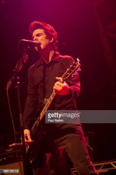 American rock musician Justin Sane of the group AntiFlag performs on stage at the Congress Theater during RiotFest 2010 Chicago Illinois October 9...
