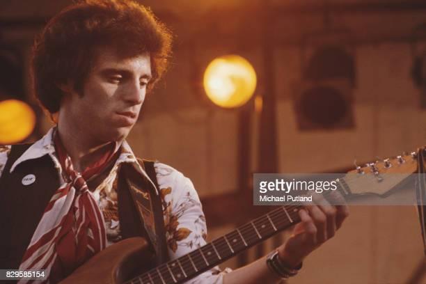 American rock musician Nils Lofgren performing USA 30th July 1976
