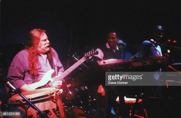 American rock musician Warren Haynes performs on stage at the Wetlands Preserve nightclub 1990