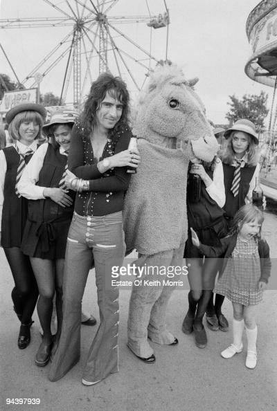 American rock singer Alice Cooper with an eclectic group of friends 1977