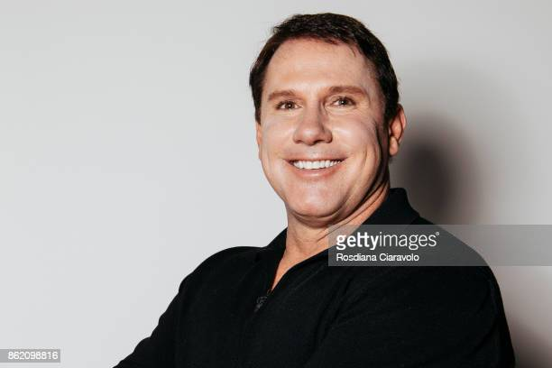 American romance novelist screenwriter and producer Nicholas Sparks poses on October 16 2017 in Milan Italy