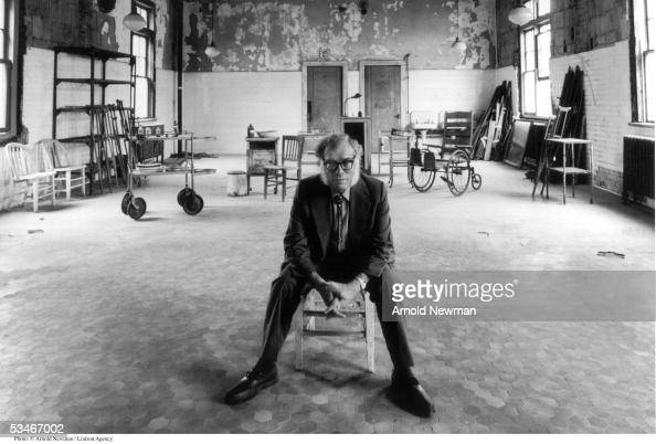American science fiction author Isaac Asimov poses for portrait on Ellis Island July 28 1982 in New York City