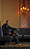 American scifi novelist William Gibson poses for a portrait in the Royal York's Library Bar in Toronto Gibson is in town promoting his first...