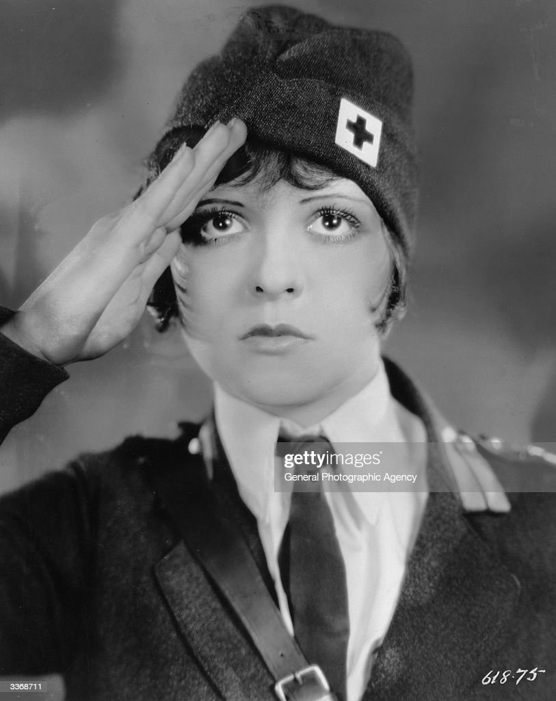 American screen actress Clara Bow (1905 - 1965), as a Red Cross driver in the film 'Wings'.