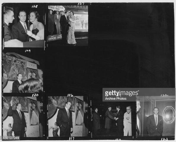 American screen and stage actor Marlon Brando arrives at the premiere for 'Guys and Dolls' 1955