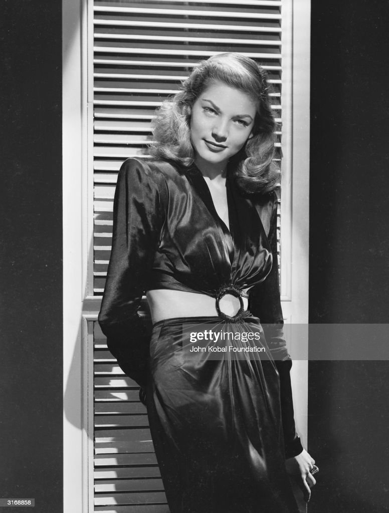 American screen star Lauren Bacall makes her movie debut in the wartime thriller 'To Have and Have Not' in which she costars with her future husband...