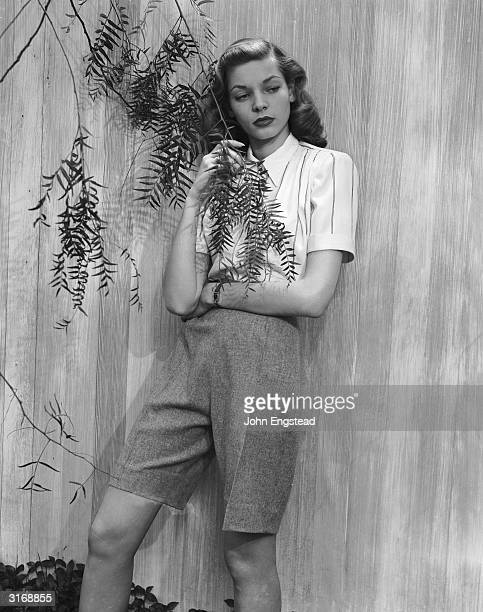 American screen star Lauren Bacall poses for 'Harper's Bazaar' before the start of her lengthy film career It was these photographs which brought her...